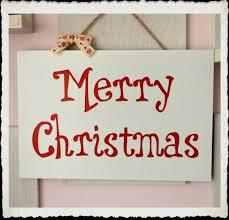handmade merry wooden plaque typography sign keepsake