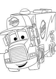 disney cars mack coloring pages images coloring disney cars mack