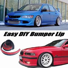 renault scenic 2005 tuning bumper lip lips for mitsubishi lancer evolution evo front skirt