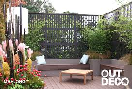 Garden Screening Ideas Outdeco Garden Screens Mahjong