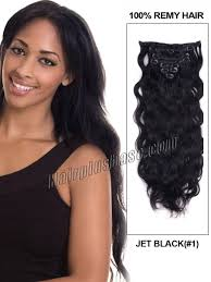 remy hair extensions inch 1 jet black clip in indian remy hair extensions