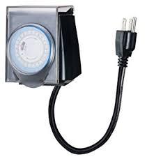 Outdoor Timer With Light Sensor - stylish decoration christmas lights timer ge 15 amp plug in dual