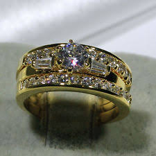 wedding ring sets for women 18k engagement and wedding ring sets ebay