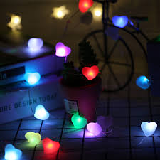 heart shaped christmas lights 30led fairy multi color heart shaped ac220v copper wire string