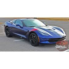 lifted corvette chevy c7 corvette stripes hash marks hood fender vinyl graphic