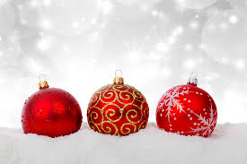 red christmas balls in snow free stock photo public domain pictures