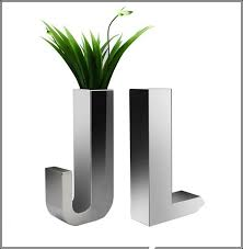 Steel Vases Stainless Steel Planters Tips For You Front Yard Landscaping Ideas