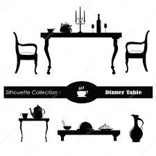 dinner silhouette dining room vector illustration u2014 stock vector catavic 18019667