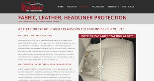 limitless car care services ini design portfolio web design