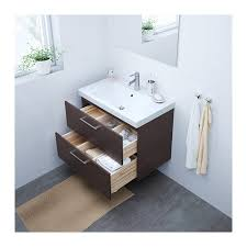 Bathroom Drawer Cabinet Godmorgon Odensvik Sink Cabinet With 2 Drawers High Gloss Gray