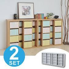 Paperback Bookshelves Interior Palette Rakuten Global Market Double Slide Bookshelf