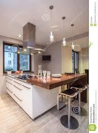 tele cuisine travertine house kitchen with tv stock image image 28191351