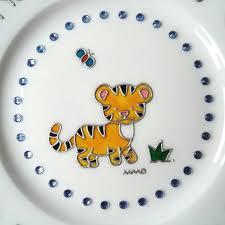 keepsake plate tiger child baptism keepsake plate rhinestone christening gift