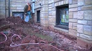 how to waterproof exterior basement wall seal footer tiles and