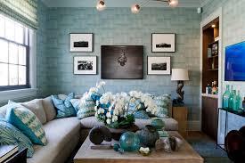 blue color decoration ideas for living room light blue wallpaper