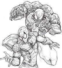 venom and spider man by chrisozfulton on deviantart