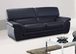 coussin dossier canapé canapé fixe en cuir avec dossier et coussins d assise