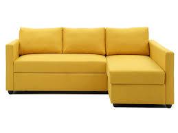 canap eacute d x27 angle convertible 5 places clark coloris jaune