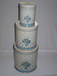 vintage metal kitchen canisters 188 best blue canisters images on canister sets