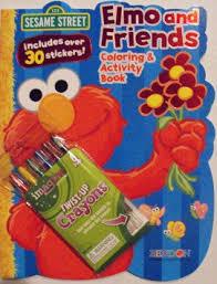 buy sesame street large coloring book healthy eating cookie
