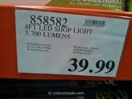 led garage lights costco feit electric 4ft led shop light