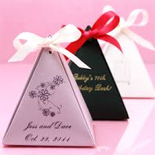 personalized wedding favors personalized pyramid favor box favor boxes favor packaging