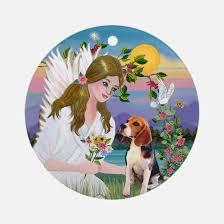 rainbow bridge beagle ornament cafepress