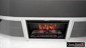 electric fireplace classic flame gotham youtube