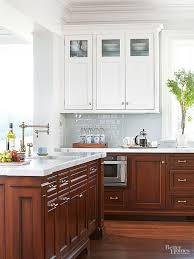 black bottom and white top kitchen cabinets ask about kitchen cabinet uppers and lowers in