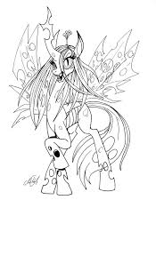 queen chrysalis bw chrisholm deviantart coloring pages