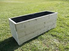 wooden trough planter ebay