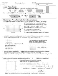 Area Formula by 1 2 Proof Rectangle Area Formula From Square Area Area