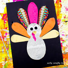 paper thanksgiving turkey craft arty crafty