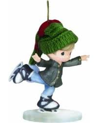 deal on skating into the holidays boy skating ornament by