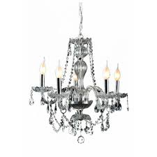decor living venetian 5 light crystal and chrome chandelier 104991