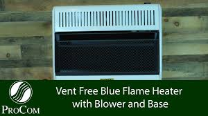 procom 30000 btu dual fuel vent free blue flame heater total