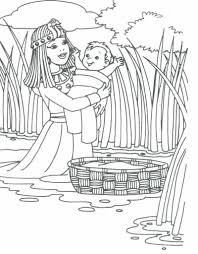 of baby moses coloring page printable pages resume format pdf