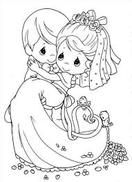 free printable wedding coloring pictures to precious moments 12723