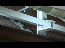 Awning Roof Mount Brackets Roof Brackets Service Video Marygrove Awnings Youtube
