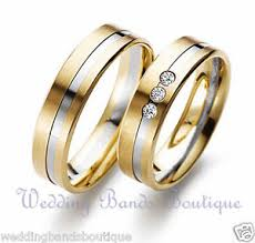 his and matching wedding bands 10k two tone white yellow gold his hers matching wedding bands