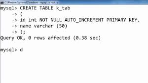 sql create table primary key autoincrement 51 starting auto increment with a particular number in sql hindi