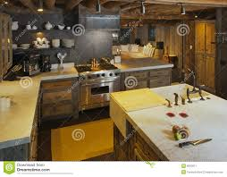 modern cabin kitchen stock image image 8063971