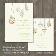 Invitations And Rsvp Cards Wedding Invitation And Rsvp Hanging Geometric Terrarium With Air