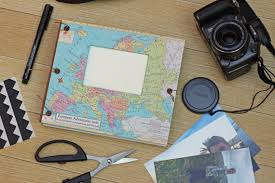 expandable scrapbook europe scrapbook travel album gift for travelers personalized
