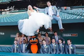 wedding photographers in maryland emily and kevin s wedding at camden yards in baltimore md