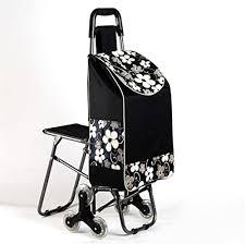 hcc chariot dolly achats panier de courses pliable monter les