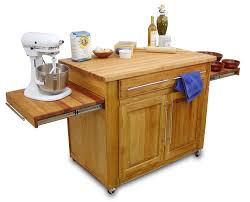 Kitchen Island With Pull Out Table Kitchen Kitchen Furniture Square Black Stained Wooden Portable