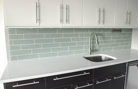 interior kitchen backsplash glass tile green with striking beach