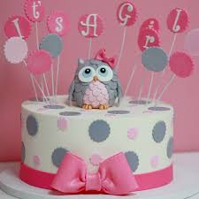owl baby shower cake its a girl baby shower cake sweet memories bakery polka dot pink bow