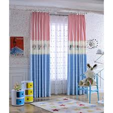 Blue And Yellow Curtains Prints Colorful Polka Dots Print Cotton Cute Kids Curtains